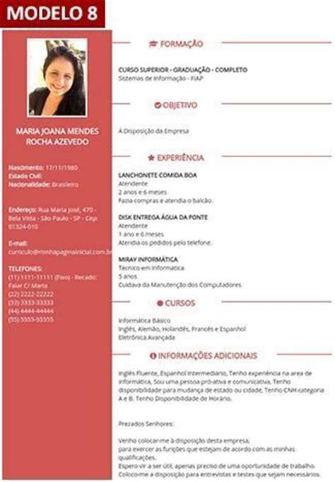 Modelo De Curriculum Vitae Word Foto Curriculo Cvs