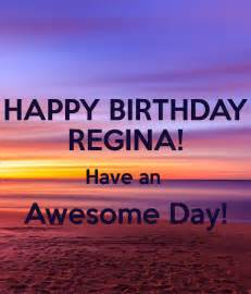 happy birthday regina have an awesome day poster ggexp