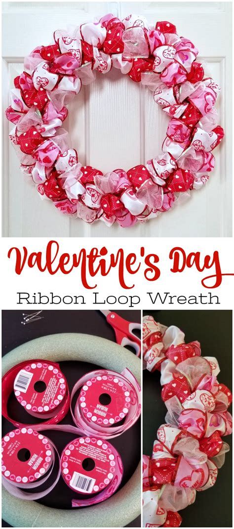 valentines day ribbon s day ribbon loop wreath simple diy wreath craft