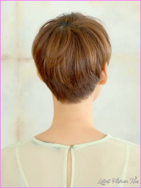 front and back pictures of short hairstyles for gray hair haircut styles for short hair back and front