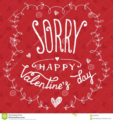 S Day Greeting Sorry Happy S Day Greeting Card Stock Vector