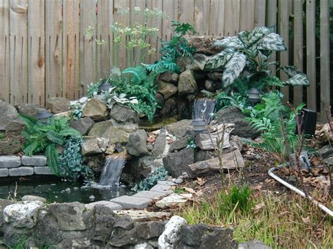 backyard waterfall designs triyae backyard waterfalls designs various design