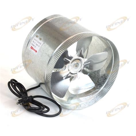 hvac duct fan booster 10 quot in line duct fan 660cfm duct booster inline cool air