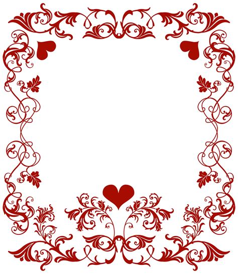 valentines day border clip frame clipart pencil and in color frame