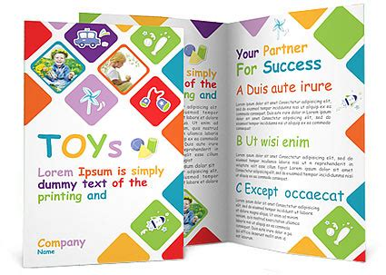 Play School Brochure Templates by Toys Brochure Template Design Id 0000000935
