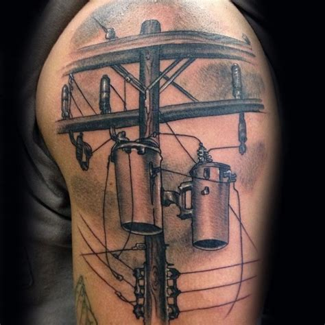Cool Black And Gray Style Detailed Shoulder Tattoo Of Cool Black And Gray Tattoos