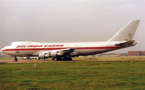 heathrow lhr egll uk boeing 747 273c air india cargo evergreen