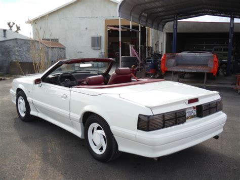 Ford Mclaren 1989 Asc Mclaren Mustang Convertible Lx 5 0 Auto 87k