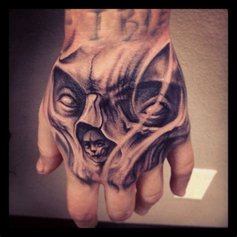 hand skeleton tattoo skull on inkedcollector