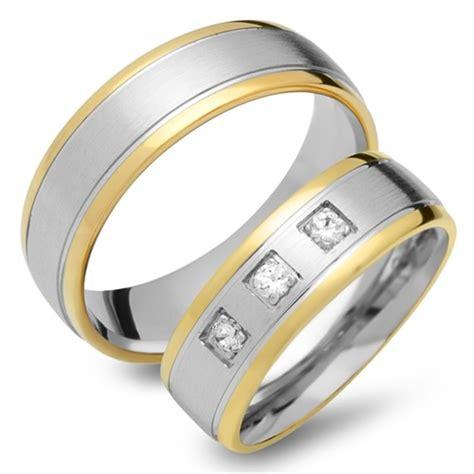 Eheringe 333er Gold by Eheringe 333er Gelb Weissgold 3 Diamanten Ehe0194 3s