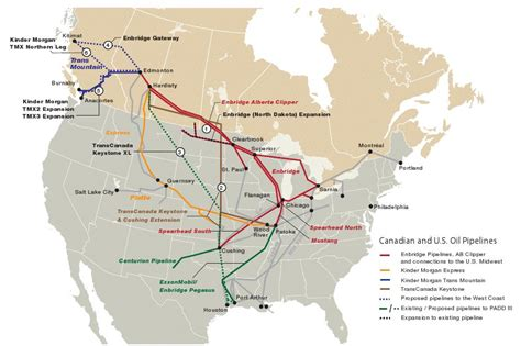 map of pipelines in usa pipelines proposed n america map