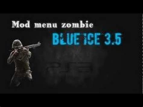 waw mod menu tutorial cod waw blue ice mod menu zombies ps3 tutorial youtube