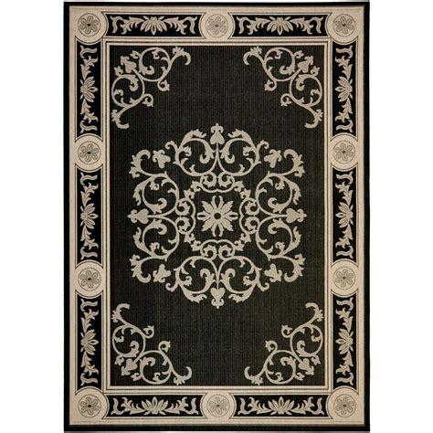 6 x 7 area rug safavieh courtyard black sand 6 ft 7 in x 9 ft 6 in indoor outdoor area rug cy2914 3908 6