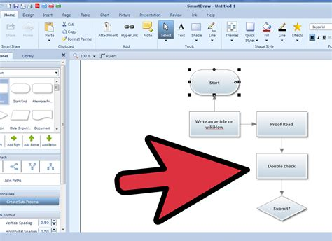step by step flowchart how to make a flowchart using smartdraw 7 steps with