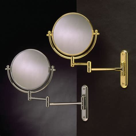 swing arm bathroom mirror taymor industries wall mount swing arm rotating mirror