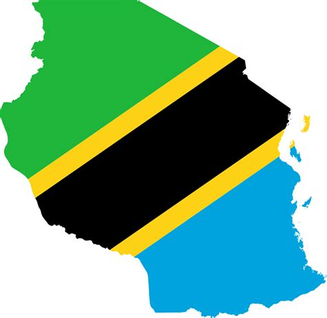 Flag Map file flag map of tanzania svg