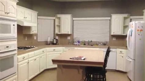 painted oak kitchen cabinets diy painting oak kitchen cabinets white youtube