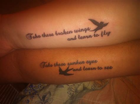 couples music tattoos black bird tattoos couples tattoos dads