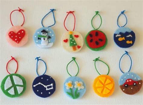 kid ornament crafts felt ornament crafts for