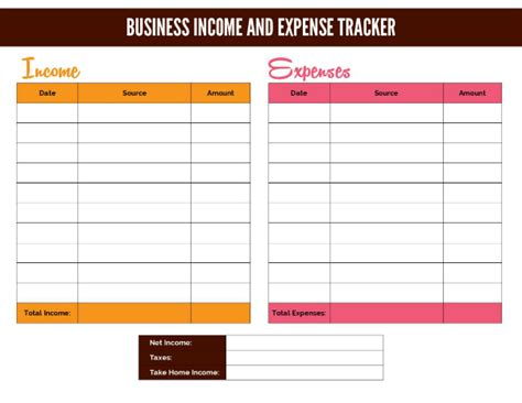 business income and expenditure template free business income and expense tracker worksheet