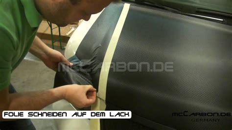 Carbon Folie Verkleben by Carbon Folie Schneiden Auf Dem Lack