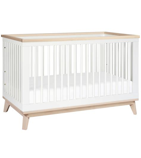 Crib White Convertible Babyletto Scoot 3 In 1 Convertible Crib With Toddler Bed Conversion Kit In White Washed
