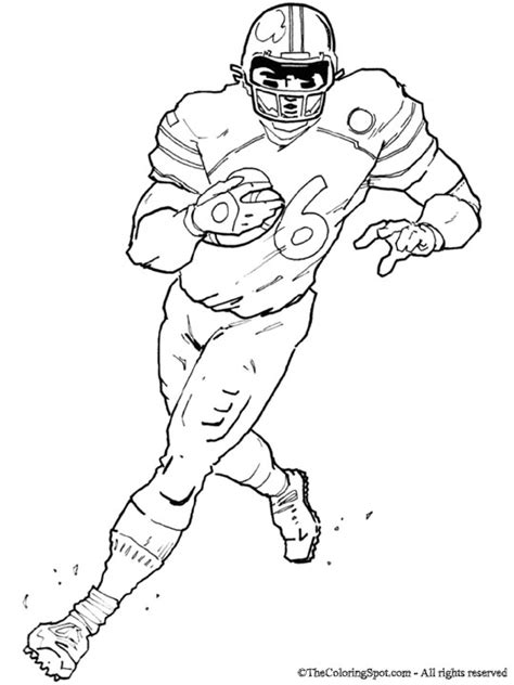 coloring pages of nfl football players best photos of coloring pages players football football