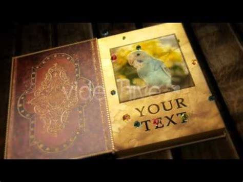 Videohive After Effects Project File Magical Open Book Youtube After Effects Book Opening Template