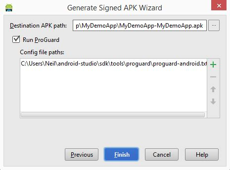 Where Android Studio Apk by Generating A Signed Release Apk File In Android Studio