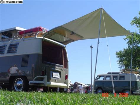 rear awning thesamba com vw classifieds 64 79 bus back rear hatch awning complete