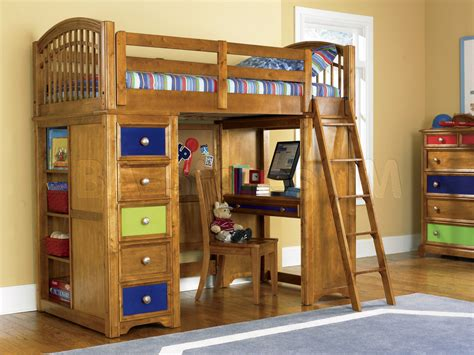 Bunk Bed With Office Bunk Beds Bearrific Loft Drawer And Desk Bunk Bed Pulaski Furniture Office Pinterest