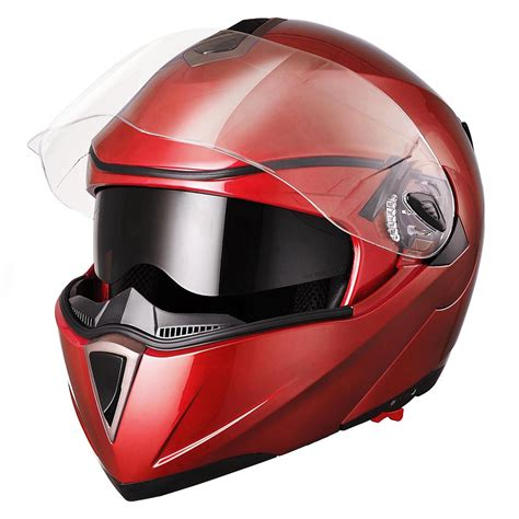 motorcycle helmet dot flip up motorcycle helmet dual visor bike