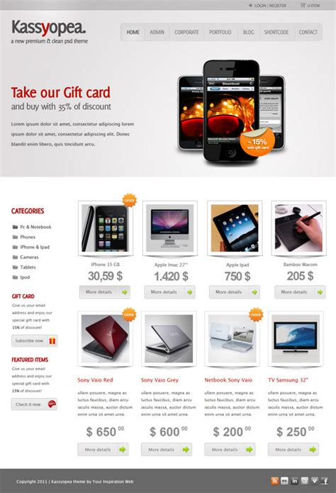 ecomerce templates free ecommerce templates template design