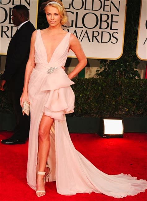 The Look For Less Charlize Therons 2005 Golden Globes Dress by Charlize Theron Curators Of Style