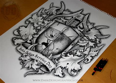 tattoo design on arms creating a custom coat of arms design on behance