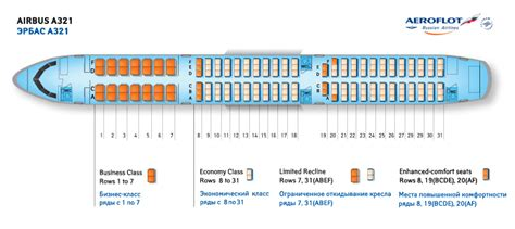 airbus a321 cabin layout aeroflot russian airlines airbus a321 aircraft seating
