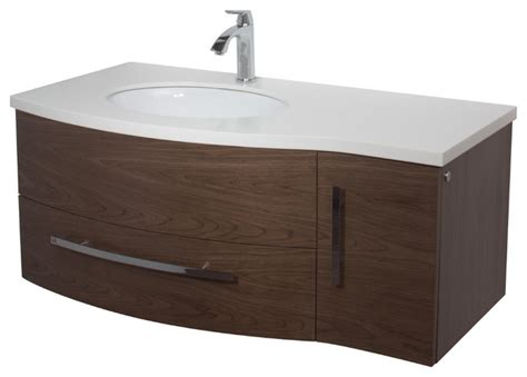 vigo 44 inch single bathroom vanity walnut without