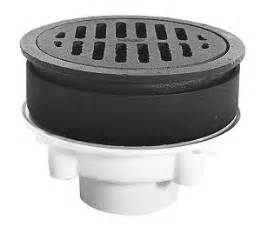 Or 4 inch pvc or abs outlet 8 inch od cast iron grate collar and