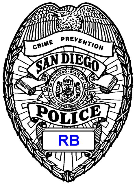 free coloring pages of police police badge