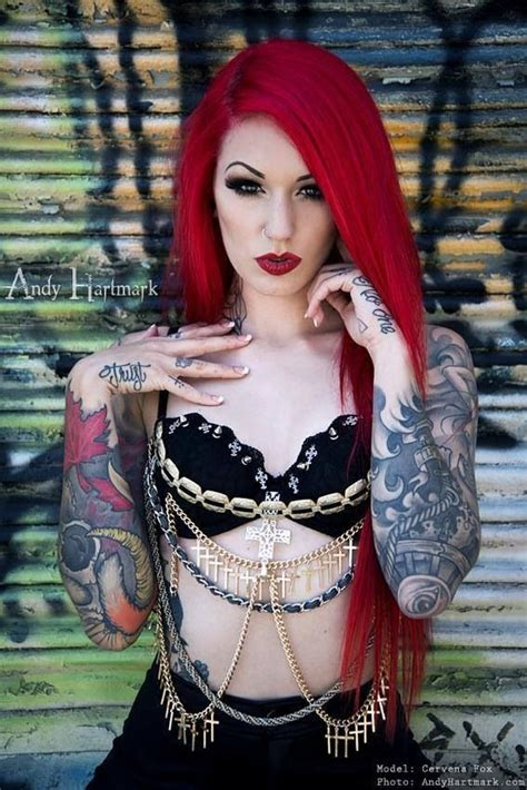 tattoo fixers red hair sleeve tattoos bright red hair tattoos and wild color