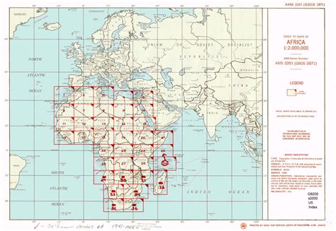 U S Records Index U S Army Map Service Ams Series 2201 Index Map Africa 1 2 000 000 G S G S 2871