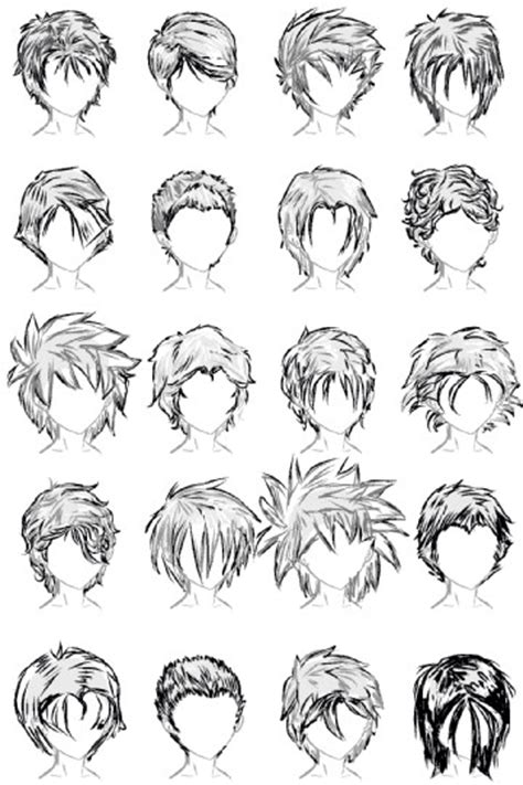 anime hairstyles black male hair styles creation pinterest male hair