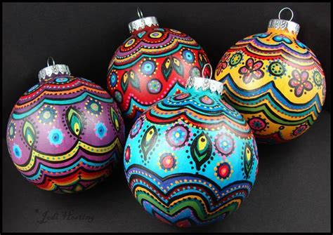 you have to see painted christmas ornaments by beadworx