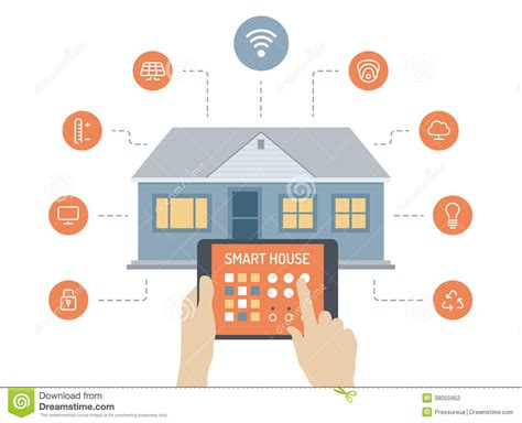 smart home images smart house flat illustration concept stock vector image