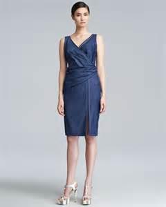 escada deliana denim dress in blue lyst