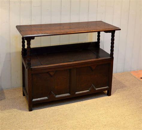 oak monks bench with storage 1920s oak monks bench antiques atlas