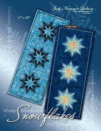 snowflake quilt pattern table runner 39 best images about judy niemeyer patterns on pinterest
