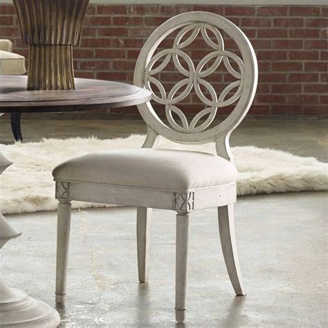 White Distressed Dining Chairs by Furniture Melange Brynlee Dining Chair Distressed