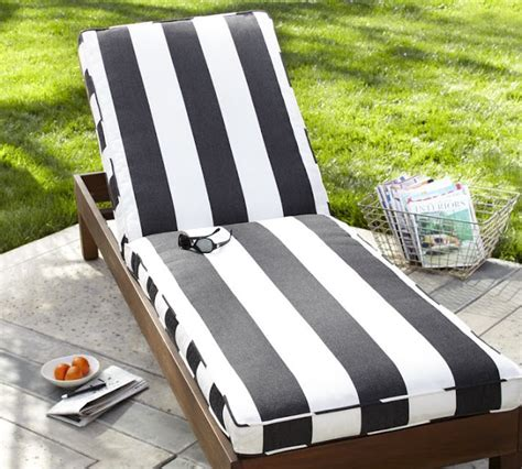 Copy Cat Chic Pottery Barn Black And White Striped Chaise