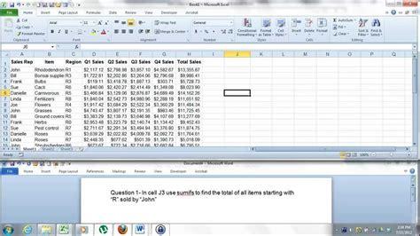 excel format questions microsoft excel 2010 test preparation excel 2010 expert